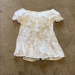 Victoria's Secret white off the shoulder blouse